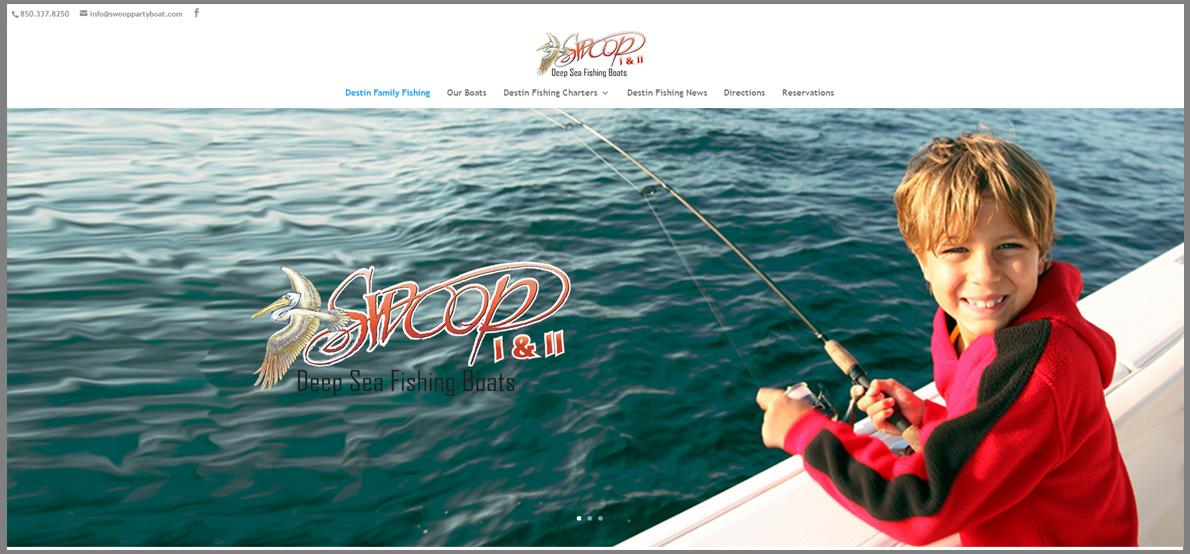Swoop Deep Sea Fishing Website